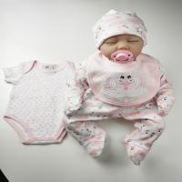 Buy cheap Romper Baby Girl Clothing Sets 5pcs 0 - 9M Age 100% Cotton Material For Newborn from wholesalers