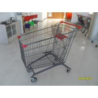 Buy cheap European Style Metal Grocery Cart 5 Inch Flat Caster With Safety Baby Seat from wholesalers