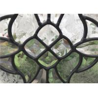 Buy cheap Black Patina Door Glass Panes , Heat / Noise Resistance Decorative Glass Panes from wholesalers