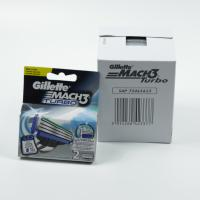 Buy cheap 2017 newest Gillette Newest Mach3 Turbo 2's Razor blade Russia/Ukraine version 400pcs/cartons from wholesalers