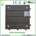 Buy cheap outdoor Solar Light WPC interlocking Tile DIY Decking Tile from wholesalers