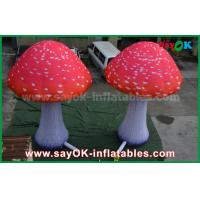Buy cheap Custom Inflatable Products Red Oxford Cloth Mushroom With Built - In Blower from wholesalers