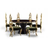 Buy cheap Gilding Wooden Black Walnut Hotel Dining Table Sets European Style from wholesalers