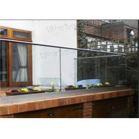 Buy cheap Outdoor Decking Frameless Glass Railing DIY Installation CE Certificated from wholesalers