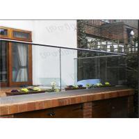 Outdoor Decking Frameless Glass Railing DIY Installation CE Certificated