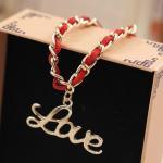 Buy cheap Korean Velvet Alloy Jewelry Chain Bracelet Wholesale Love Hearts Key Animal Shape Bracelet from wholesalers