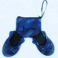 Buy cheap Stock and Discount Best Price Wholesale Navy Blue Roll Up Driving Shoes with OEM Printing Logo in a Bag from wholesalers