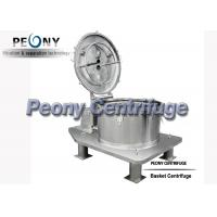 Buy cheap Plate Bag Lifting Top Discharge Food Centrifuge / Basket Centrifuge from wholesalers