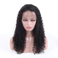 Buy cheap Genuine 100 Percent Human Hair Lace Wigs Jerry Curl No Synthetic Hair from wholesalers