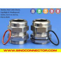 Buy cheap SS304, SS304L, SS316 & SS316L Stainless Steel Cable Glands Cable Joints with IP68 Rating from wholesalers