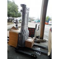 Buy cheap 1.6T Straddle Type Electric Pallet Truck 4500MM Triplex Mast System from wholesalers