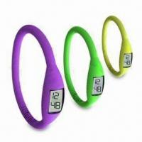 Buy cheap Silicone Sports Watches, Ion Watches, Available in Various Colors, Suitable for Promotions Gifts product
