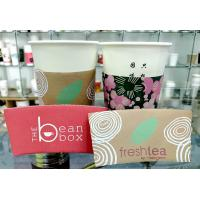 Buy cheap Custom Printed Paper Cup Sleeve With Lid Sleeve 8oz 12oz 16oz For Beverage from wholesalers