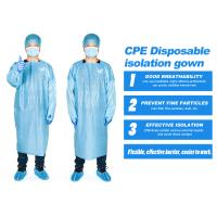 Buy cheap Disposable Hospital Isolation Gown , CPE Surgical Gown Disposable Medical Surgical Operation from wholesalers