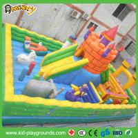Buy cheap air bounce inflatable fun city, inflatable amusement park, outdoor playground inflatable park for sale from wholesalers