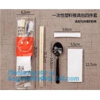 Buy cheap High quality New designed Cheap Disposable Plastic cutlery Sets(plastic knife spoon fork packs) chopsticks,cutlery set, from wholesalers