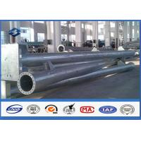 Round Hot dip Galvanized Steel Tubular Pole ASTM A123 Standard flange mode
