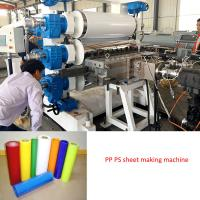 Buy cheap plastic sheet extrusion line PP PS PET  sheet  making machine from wholesalers