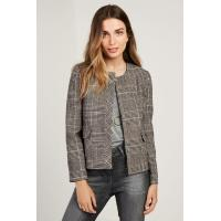 Buy cheap Sleeveless Plaid Women's Wool Blend Trench Coat Zip Front Casual Style from wholesalers