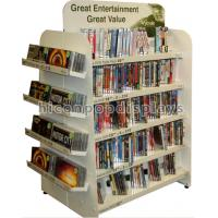 Buy cheap 4-Way White Retail Cd Display Stands Freestanding For Book Store / Supermarket from wholesalers