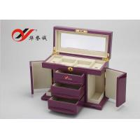 Buy cheap Fashionable Wooden Jewellery Box 3 Drawers 4 Layers Wooden Jewelry Case from wholesalers
