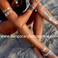 Buy cheap Creat your own brand, hot sale custom metallic temporary flash tattoo from wholesalers