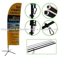 Buy cheap Corrosion Resistance Flying Beach Banner Flags Teardrop Flag Banners For Advertising from wholesalers