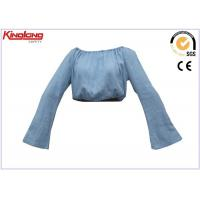 Buy cheap Washed Embroidery Girls Type Cotton Denim Work Clothes Shirt Long Arm Style from wholesalers