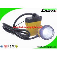 Buy cheap High Power 3W Hard Hat Headlamp 10.4 Ah SAMSUNG Battery For Mining from wholesalers