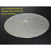 """6"""" Electroplated Diamond Flat Lap Disc Grit 240 1mm thickness for polishing stones"""