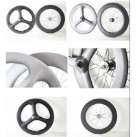 Buy cheap china factory directly sell track bicycle fixed gear clincher wheelsets 3-spoke&88mm wheel from wholesalers