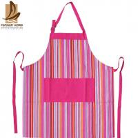 Buy cheap Pretty Blue/Pink Striped Cotton Kitchen Apron Personalised Cooking Aprons from wholesalers