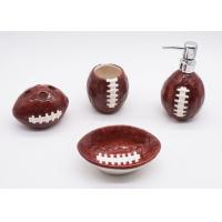 Buy cheap Ceramic Football Bathroom Sets , Rugby Sanitary Ware Bathroom Accessories Set from wholesalers