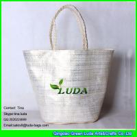 Buy cheap LUDA wholesale 2016 golden printing lady's summer paper straw bag from wholesalers