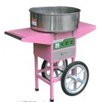China Four wheels moving commercial cotton candy machine With Cart on sale