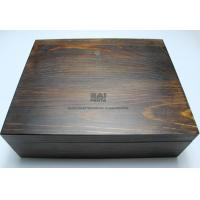 Buy cheap Customized Handmade Wooden Boxes , Vintage Color Personalized Wooden Box With Lock from wholesalers