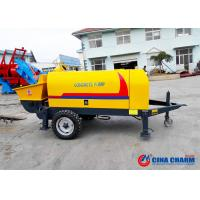 Buy cheap S Valve 10Mpa 20m3 / H Trailer Mounted Concrete Pump With Electric Motor from wholesalers