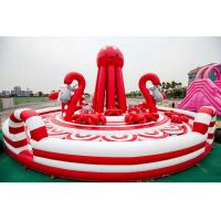 Buy cheap 0.55mm PVC Tarpaulin Pink Inflatable Combos Octopus Playground CE EN71 EN14960 from wholesalers