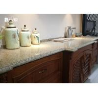 Buy cheap Beige Sparkle Quartz Worktops Glossy Polished Ogee Edge Scratch Resistant from wholesalers