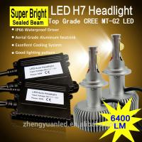 China 6400lm/set real lumens led car headlight h4 h7 super high brightness for car headlights on sale