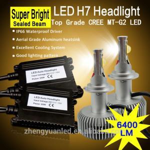 China 6400lm/set real lumens led car headlight h4 h7 super high brightness for car headlights on sale