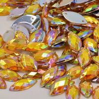 Buy cheap Glass Material Sew On Rhinestones 14 Facets Extremely Shiny For Dresses / Sweaters from wholesalers