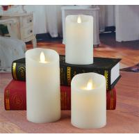 China Set Of 3 Mini Flameless Moving Wick Battery Operated Artificial Led Candle With Timer on sale