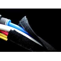 Buy cheap Braided Velcro Self Closing Cable Wrap Black Color With Good Scalability from wholesalers