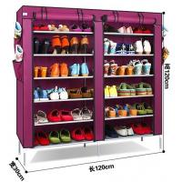 Buy cheap folding shoe rack with non-woven cover from wholesalers