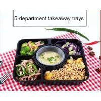 Buy cheap 5-department takeaway tray Injection Disposable Plastic Food Containers with soup cups product