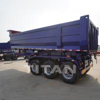 Buy cheap TITAN End dump semi trailer hydraulic tipper trailer 30cbm U Shape Dumper Trailer for sale from wholesalers