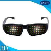 Buy cheap Wide Angle Diffraction Glasses With Rainbow Fireworks Lens For Events Use from wholesalers