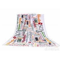 Plain Style Custom Printed Beach Towels Monogrammed For Travel