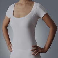 Buy cheap Womens high quality luxury lenzing modal 40S 200g Scoop Neck armpit sweat pads Sweatproof Undershirt t-shirt from wholesalers